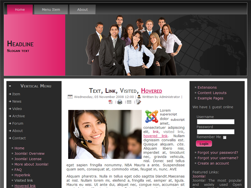 Joomla 2.5 Template:: Business